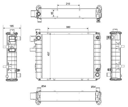 Neuteil Stapler Motorkuehlung Kühler Erstausrüster-Qualität für Hyster und Yale Forklift