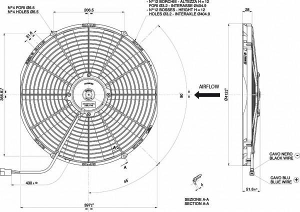 Lüfter Universal ELEKTRO - LÜFTERKONDENSATOR 24V D.385 Drückend