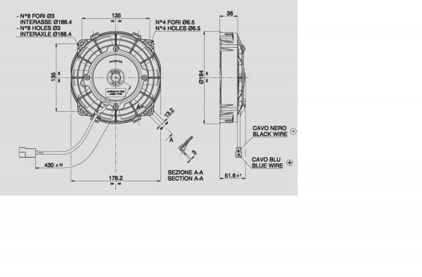 Lüfter Universal ELEKTRO - Lüfter D.167 Saugend